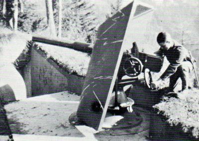 Canon de 7,5 1903 sur affût crinoline, recul court