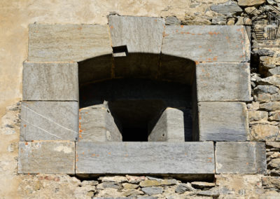 fort de Colle Alto - embrasure d'artillerie