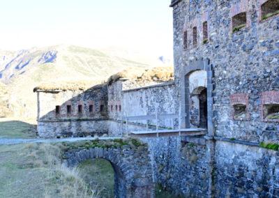fort de Colle Alto - Front Nord avec pont levis et caponnière