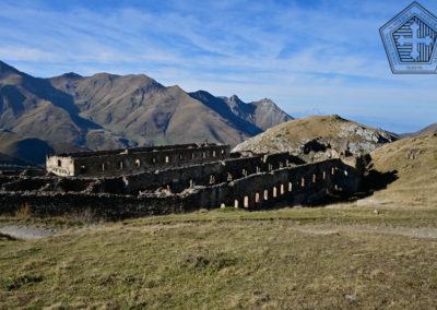 fort de Colle Alto - Casernement façade est