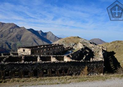 fort de Colle Alto - Casernement façade sud et est