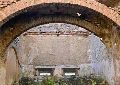 fort de Colle Alto - Casernement à l'intérieur des bâtiments