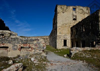fort de Colle Alto - Casernement espace intérieure