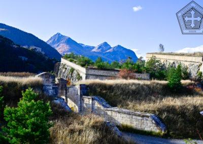 Fort des Trois-Têtes et fort de Randouillet à l'arrière