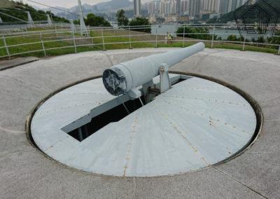 2016.10.17 -HK - Shau Kei Wan - Fort Lei Yue Mun - 6 Inch BL disappearing gun – affût à éclipse - Pièce No 1 (1)